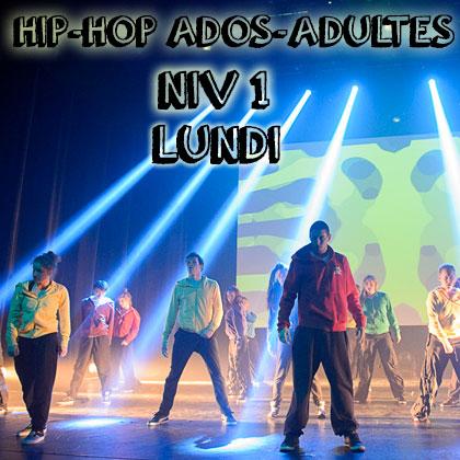 Hip Hop ados-adultes Niv 1-2 lundi 17h-18h